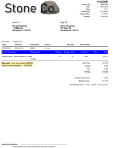 AR Invoice Example