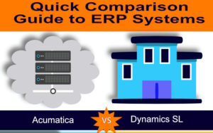 Top section of Dynamics SL vs Acumatica infographic