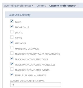 NetSuite Last Sales Activity